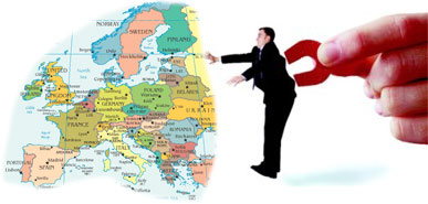 Europe Person Magnet