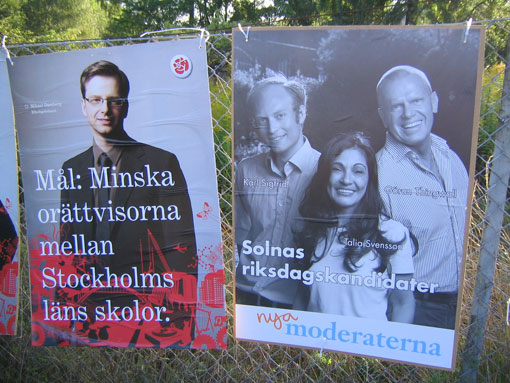 Election Posters - Social Democrats and Moderates