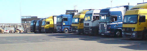 Trucks at Oostende