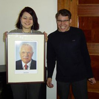 JEF folks with Vaclav Klaus portrait