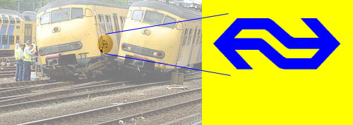 Train crash shows NS logo