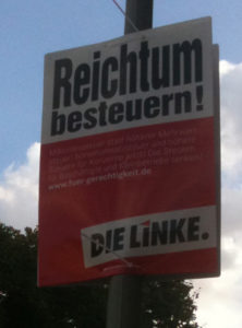 Die Linke poster in Berlin-Mitte - J. Worth, CC License