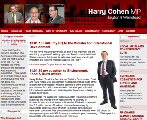 Harry Cohen Web Screenshot