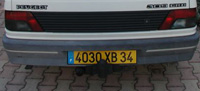 34 numberplate