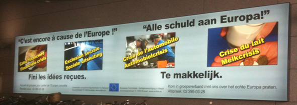 Advert at Gare du Luxembourg, Brussels